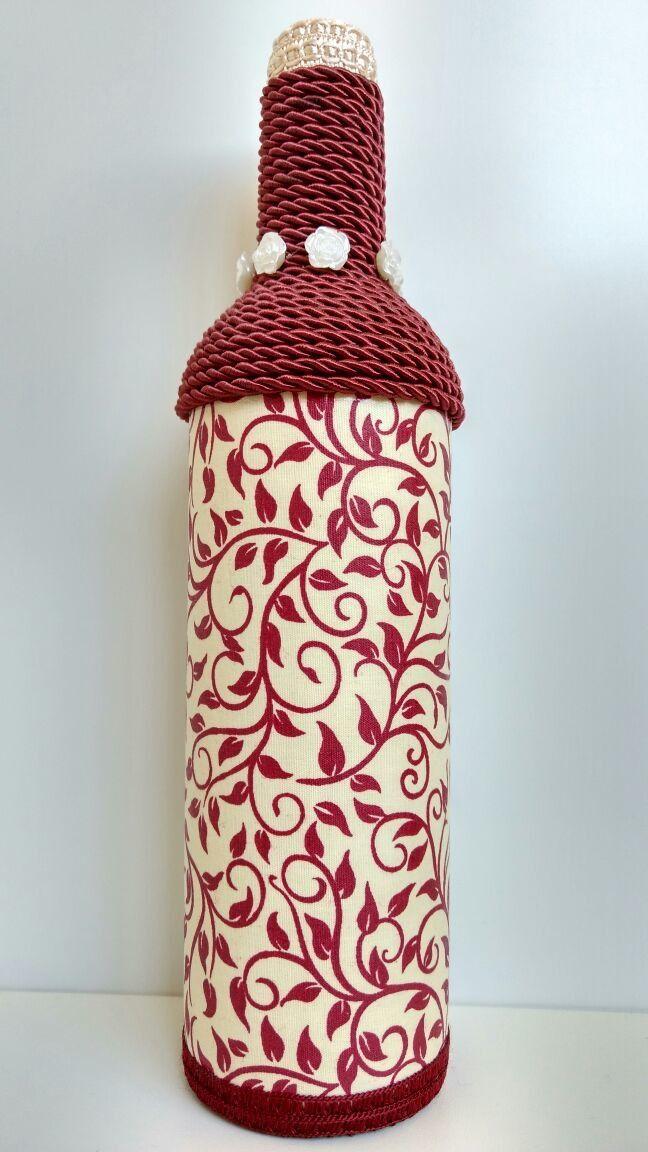 Kit com 2 garrafas decoradas Garrafa de