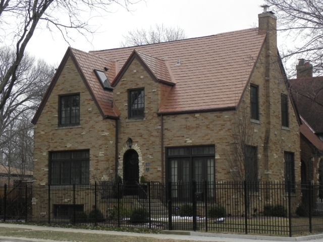 Chicago Il Aged Copper Interlock Roofing Shingle This Metal System Is Backed By A Lifetime Limited Warranty Www Mwmetalroofing