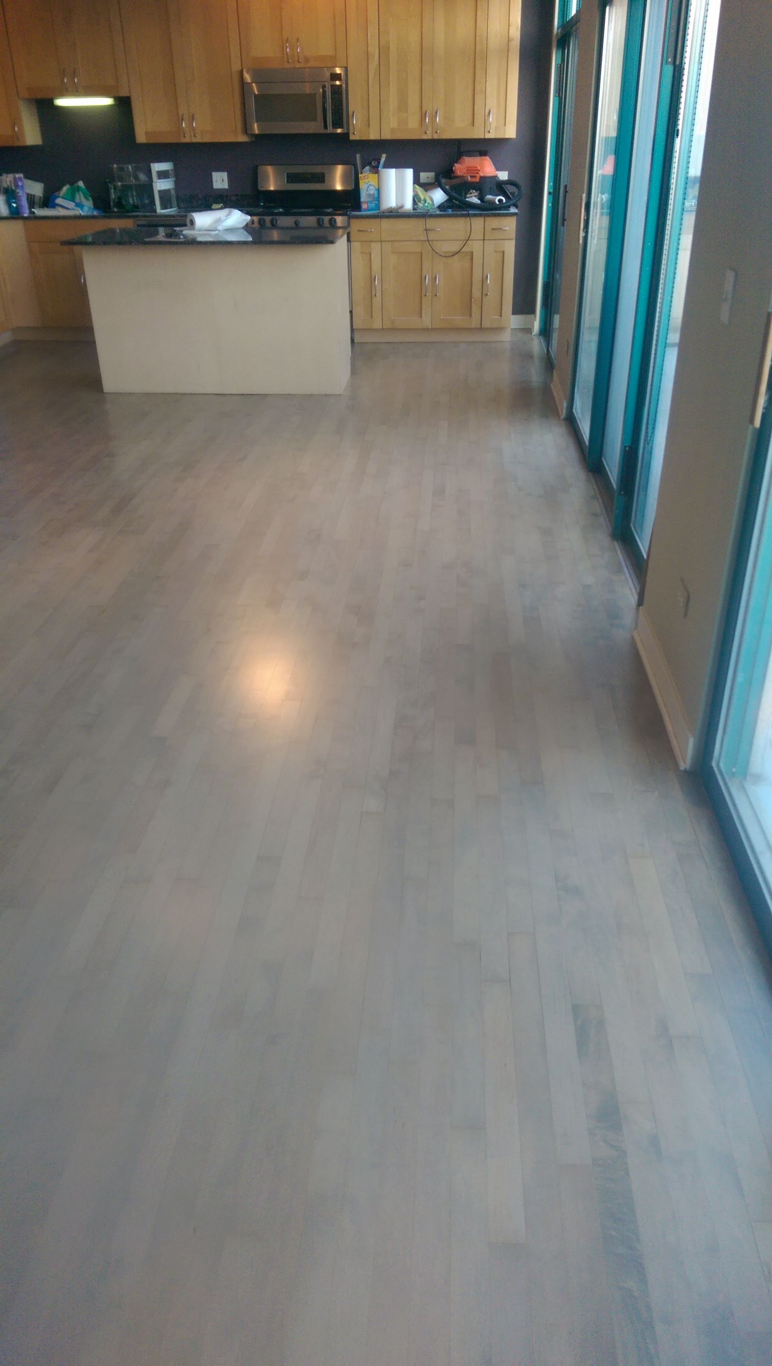 Bona Grey Stain Maple Wood Flooring Stained
