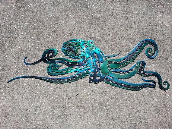 Octopus Metal Wall Art Last Minute Christmas Gift Aluminum