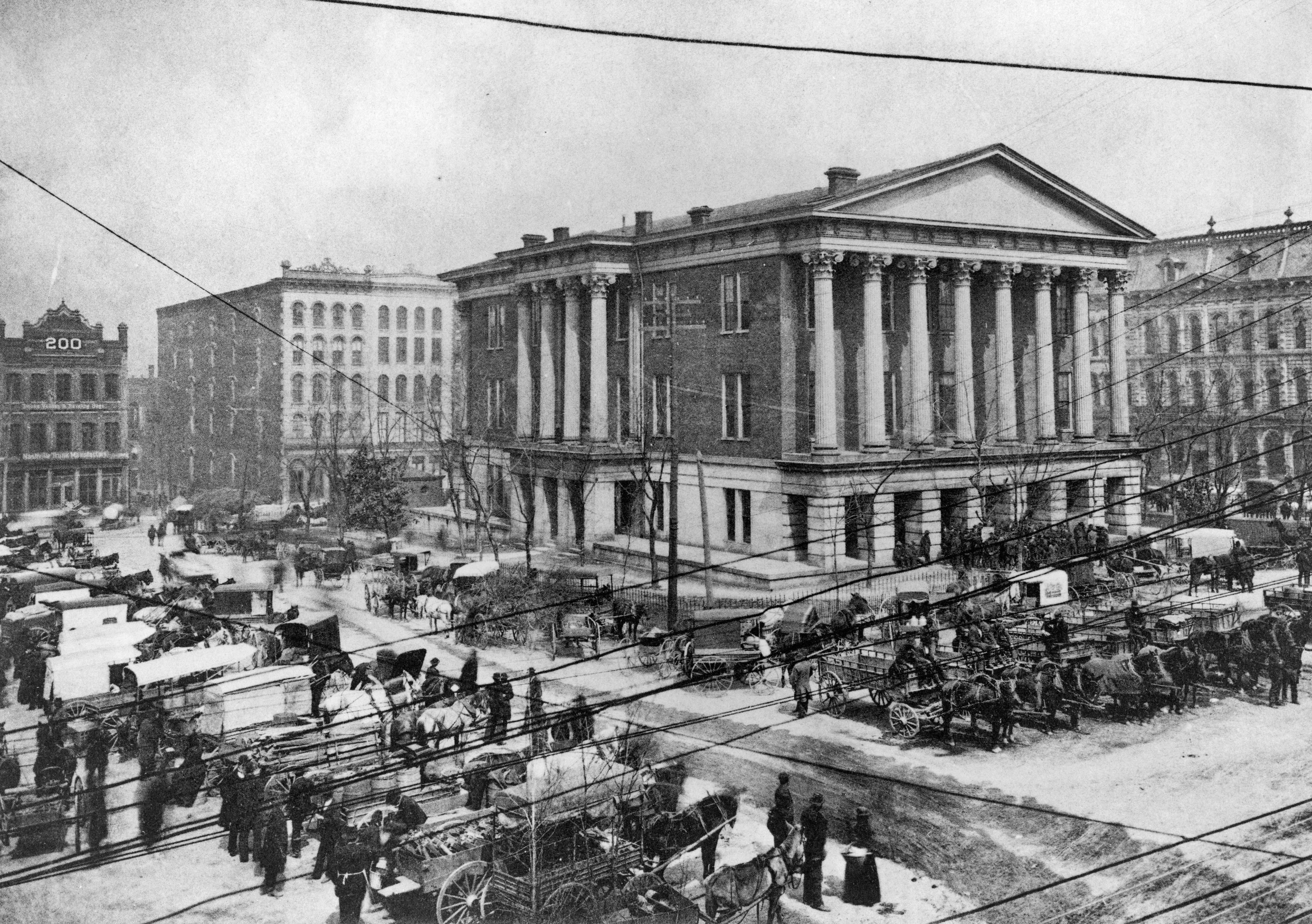 1896 Nashville Tn At The Court House And Market Square