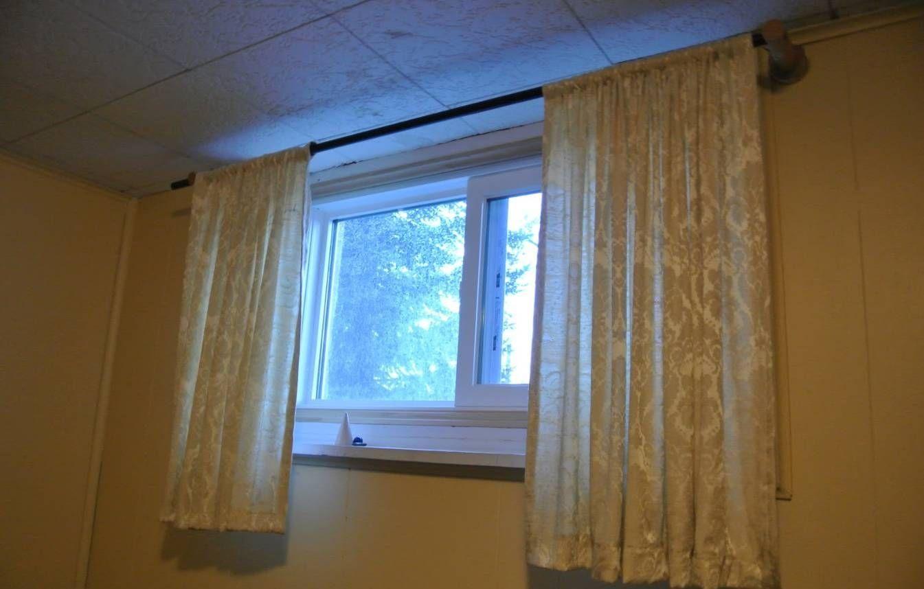 Curtain Ideas For Small Basement Windows   Short window curtains ...
