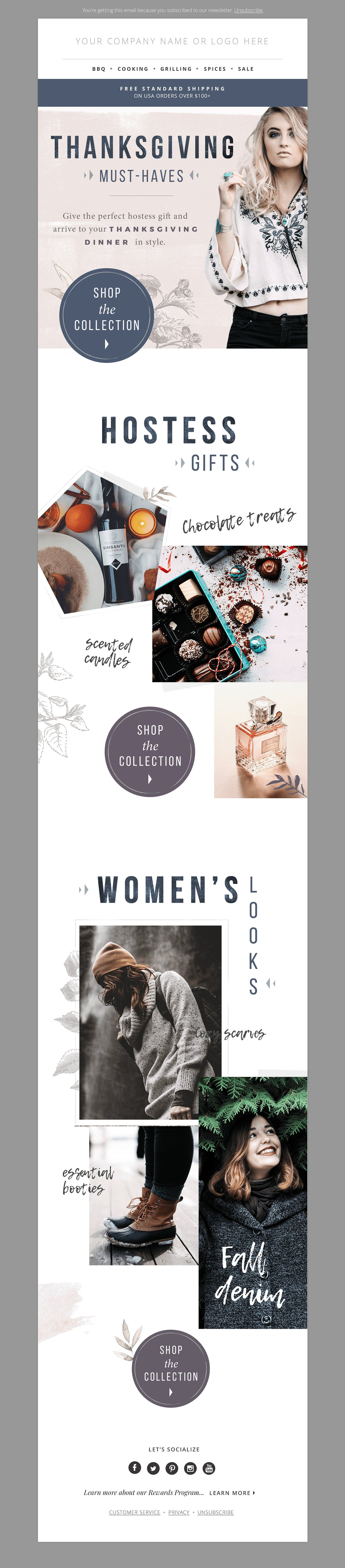 Gift Guide E-mail Template PSD by JannaLynnCreative on ...