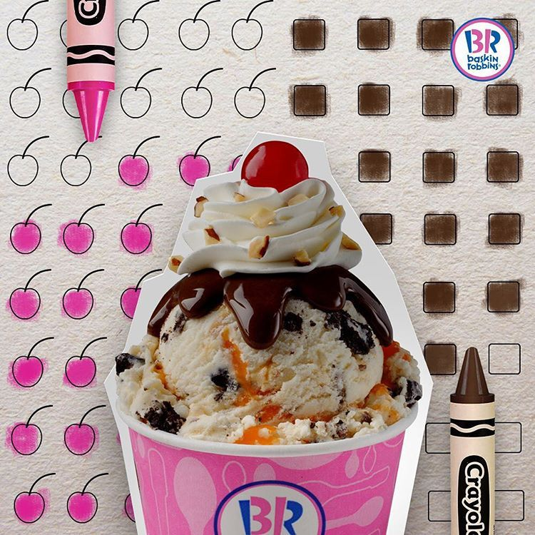 Instagram Photo By Baskin Robbins Gulf Jan 13 2016 At 4 31pm Utc Baskin Robbins Ice Cream Cherry Brown