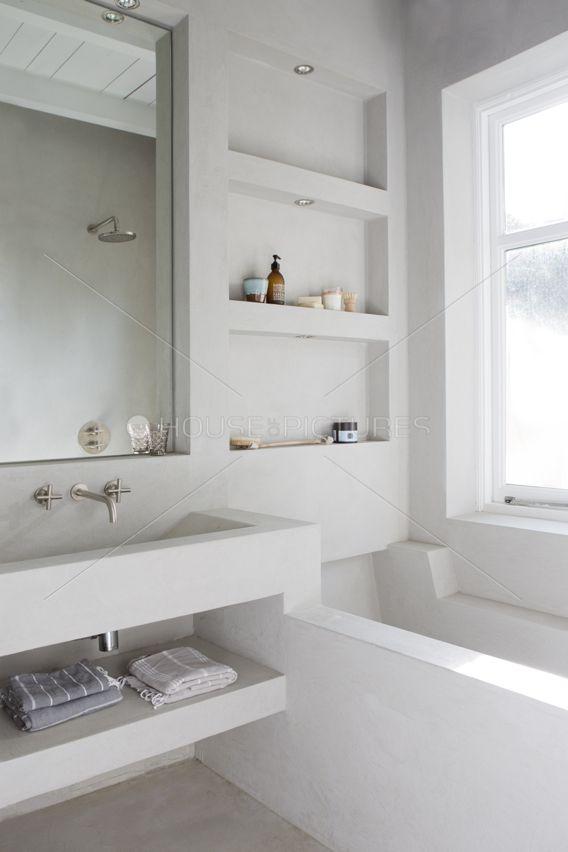 Bathroom Badezimmer Innenausstattung Eingebaute Badewanne Badezimmer