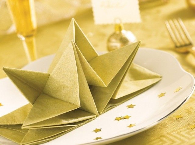 origami noel facile serviette