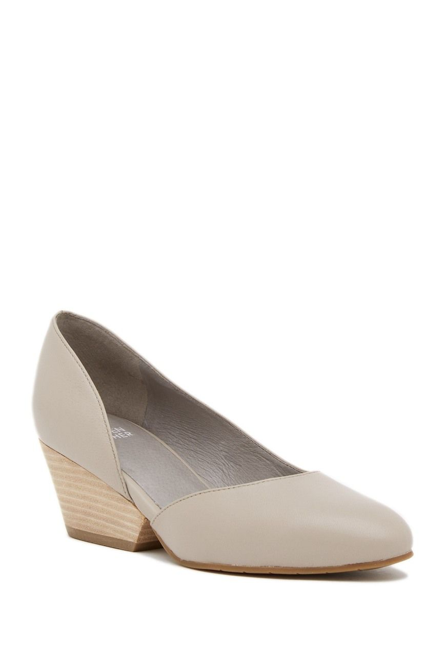 1f7b1023cc8b Image of Eileen Fisher Lily Half d Orsay Wedge Leather Pump