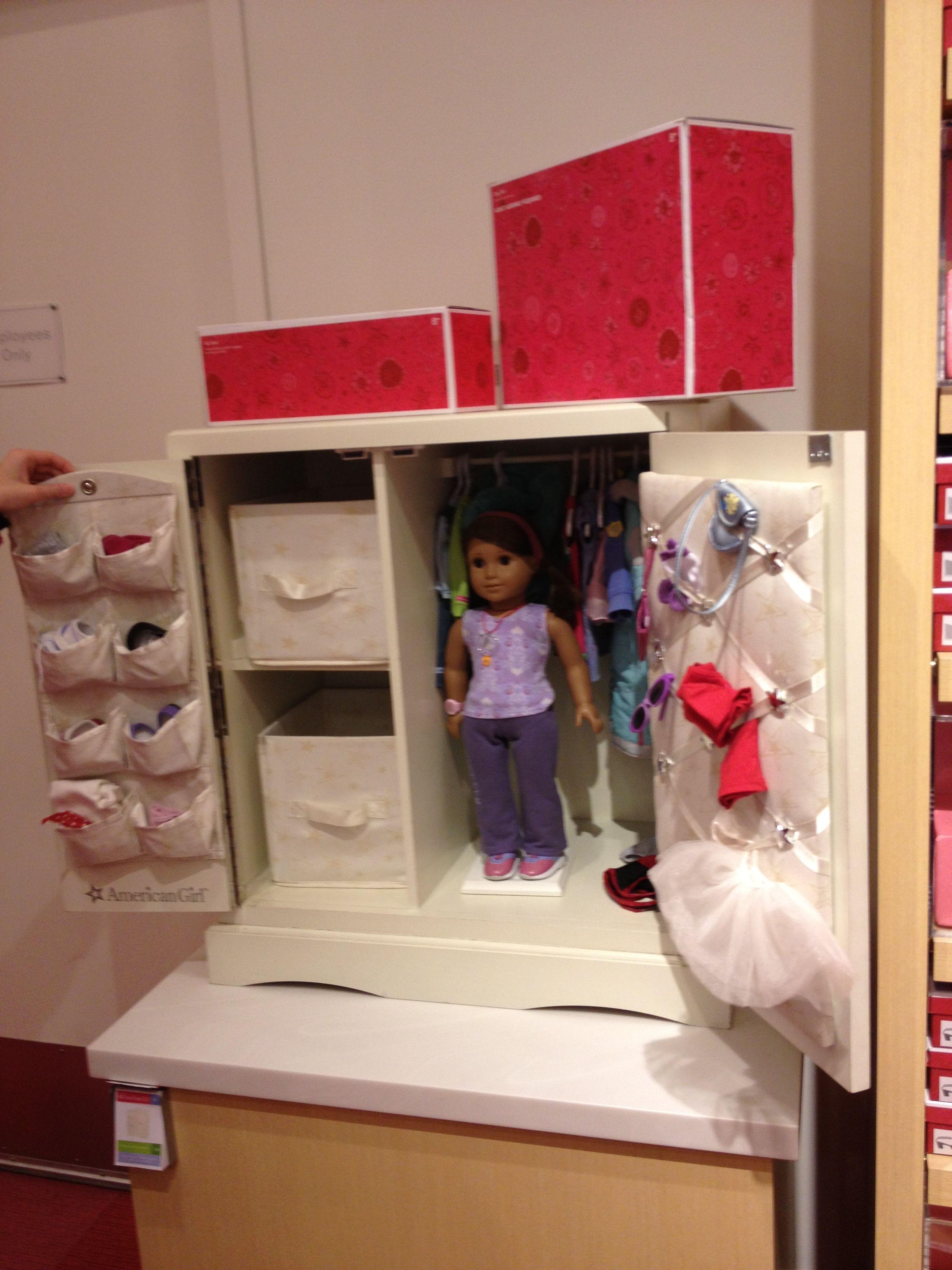 American Girl Doll storage cabinet & American Girl Doll storage cabinet | American girl | Pinterest ...