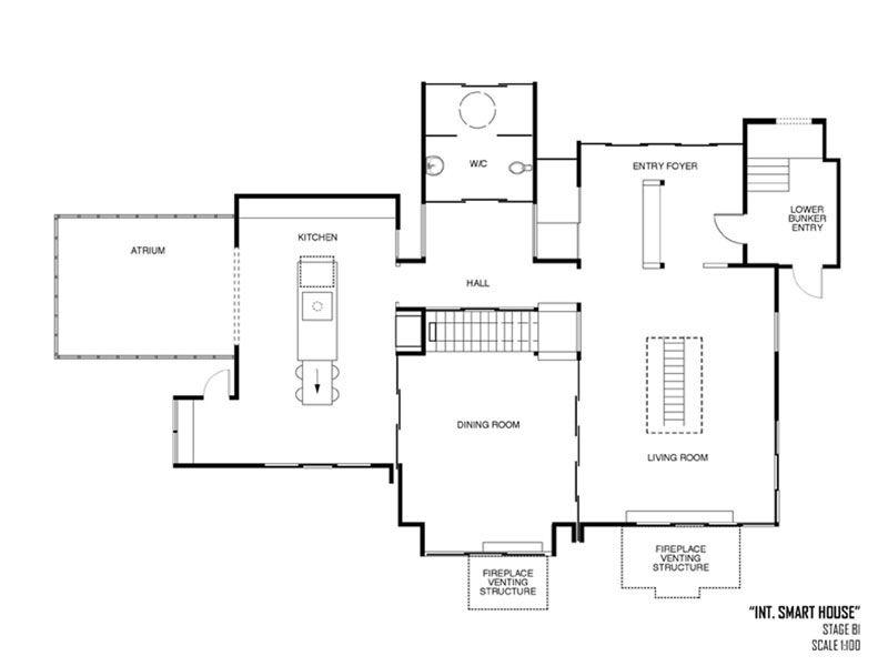 Les plans de la maison du0027Eureka TV show Lu0027intérieur des séries - plan maison en l 100m2