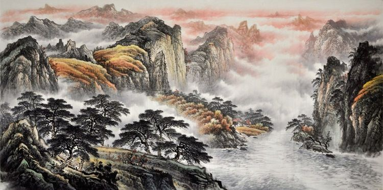 Chinese Painting Traditional Nature Modern Art Famous Artists Large Landscape Painting