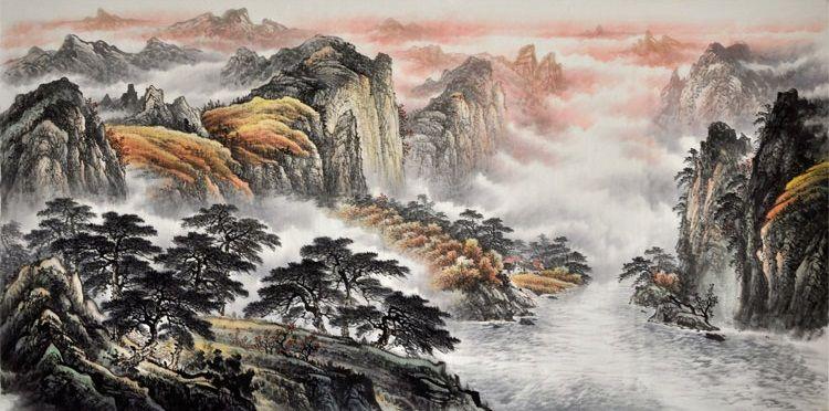 2020 的 Chinese Painting Traditional Nature Modern Art Famous