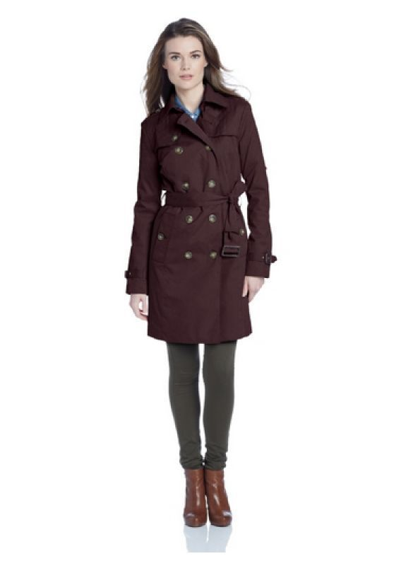 Nwt London Fog Women S Quilted Shoulder Trench Coat In