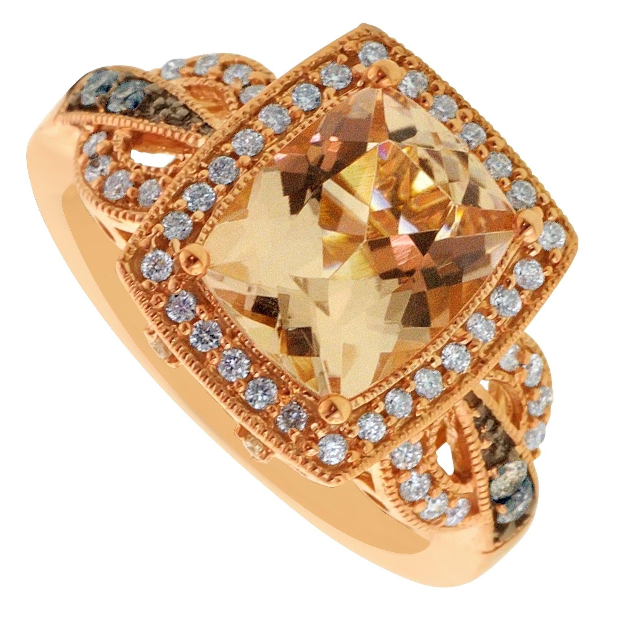 Morganite And Chocolate Diamond Ring | Ring | Pinterest