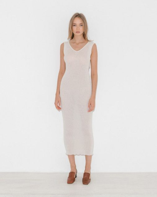 Lauren Manoogian Accordion Dress in Ivory   The Dreslyn   LAUREN ... b467d74565