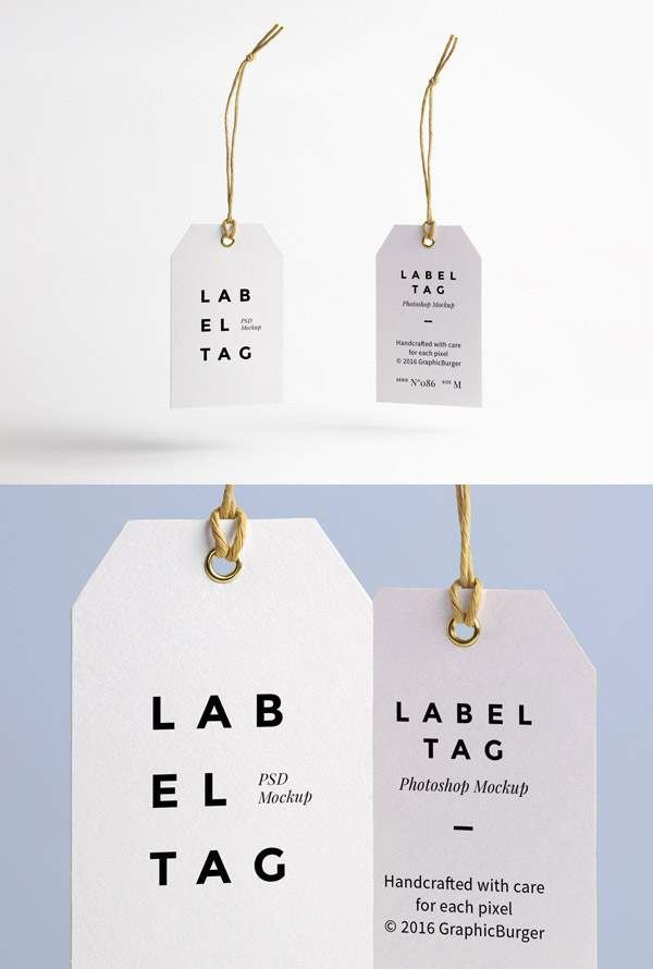 21 free tag and labels mockup to create custom design for clothing