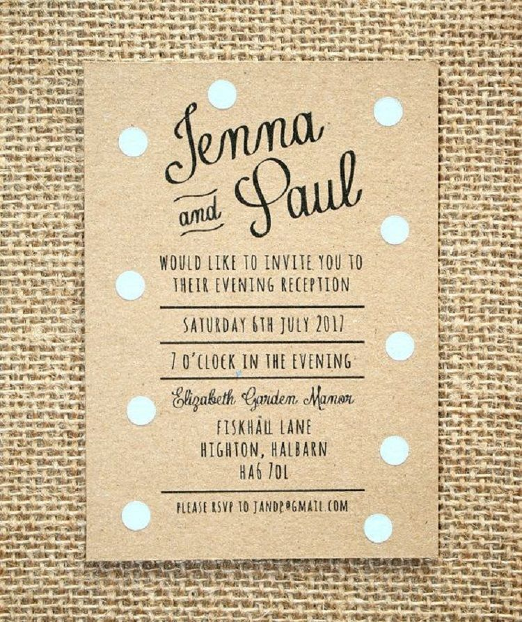 What To Write On Evening Wedding Invitations Card