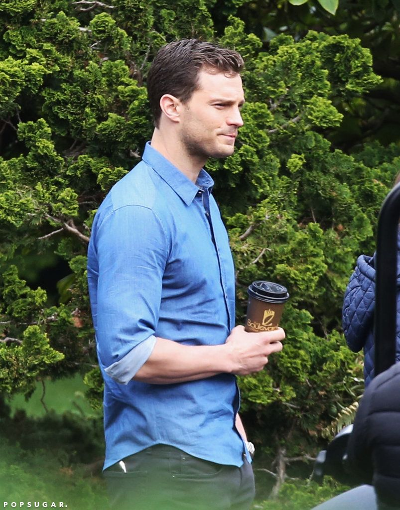 Fifty Shades Darker Jamie Dornan Set Pictures | POPSUGAR Entertainment
