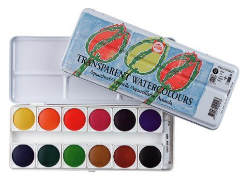 Talens Transparent Watercolor Set 12 Pans Amazon Toys Games
