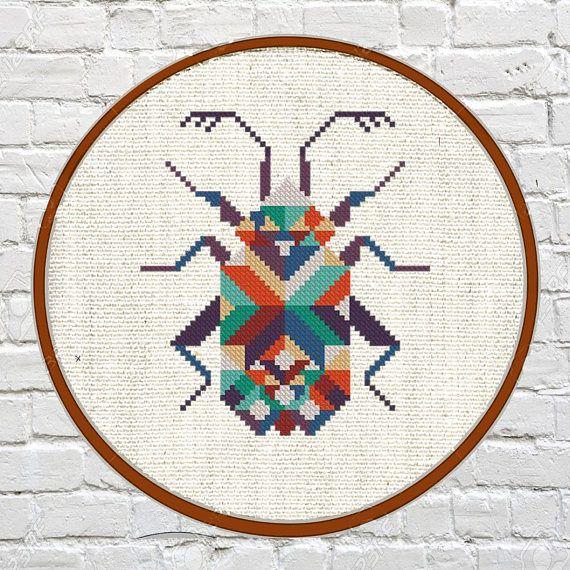 modern cross stitch pattern cross stitch pattern geometric Animals ...