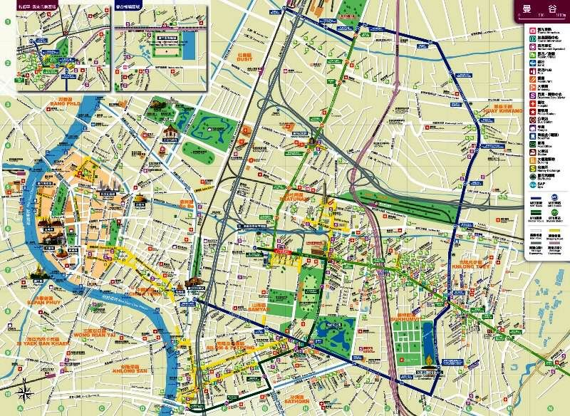 Bangkok Mapa Turismo En Tailandia Mapas Bangkok