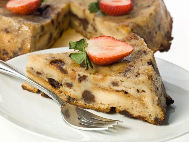 receta fácil de budín de pan sin pasas y diabetes