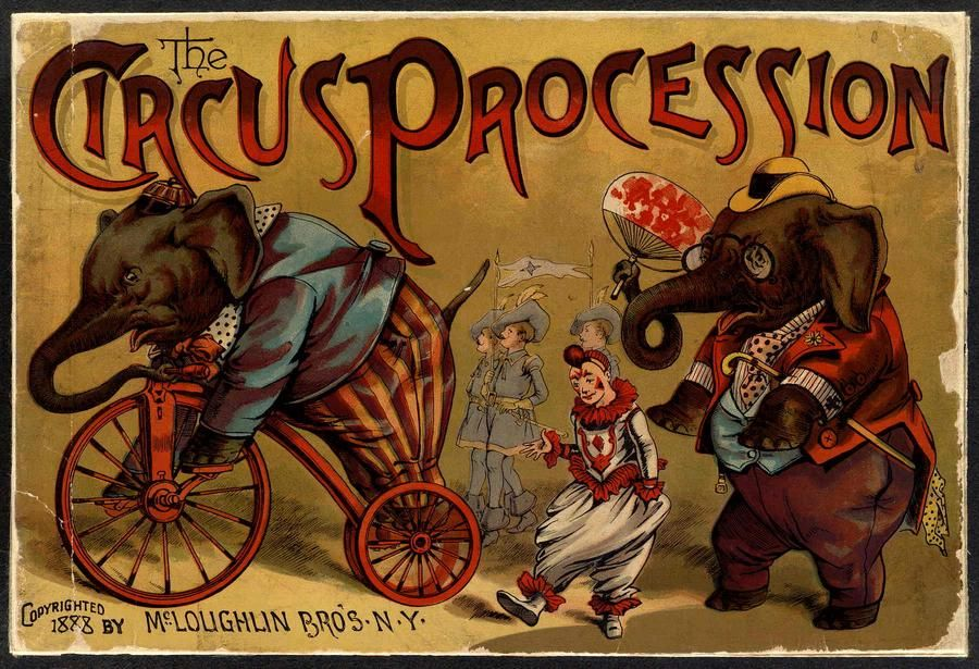 Recommended: The Circus Procession #vintage, #childrensbook #kidlit #classic #retro