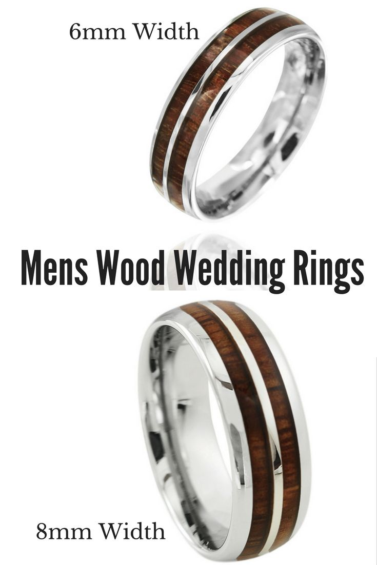 I Love Both Of Theses Mens Wedding Bands Rings Are Made Out Tungsten Carbide And Inlaid With Genuine Koa Wood These Make Such Unique