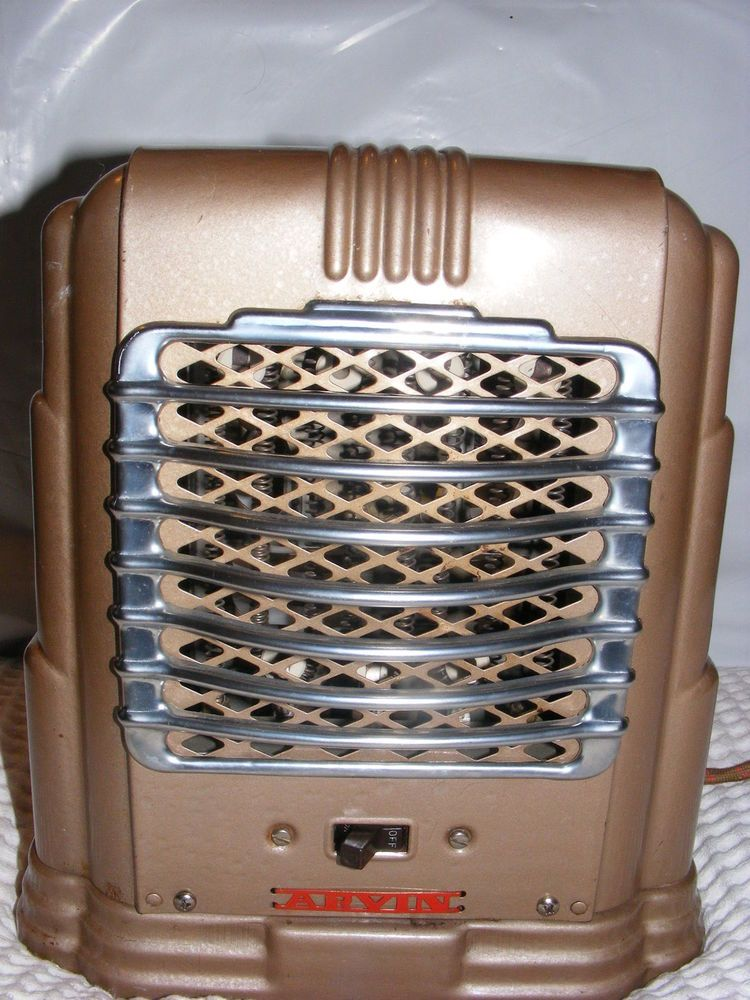 Vintage Retro Art Deco Arvin Electric Space Portable Fan