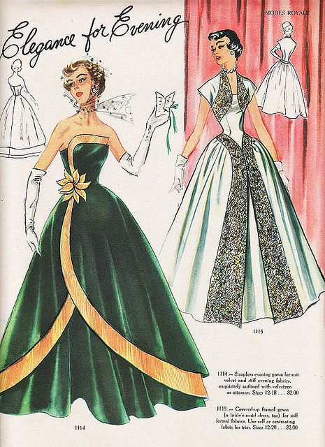 modes royale evening gowns in 2019 | Vintage patterns