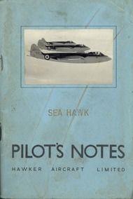 Hawker Sea  Hawk Aircraft  Pilot's Notes Manual