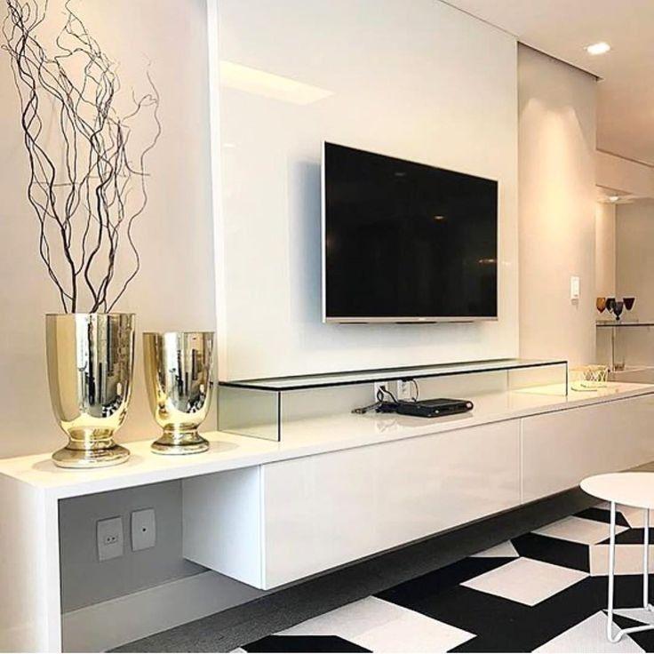 41 modern and minimalist tv wall living room decor ideas 1