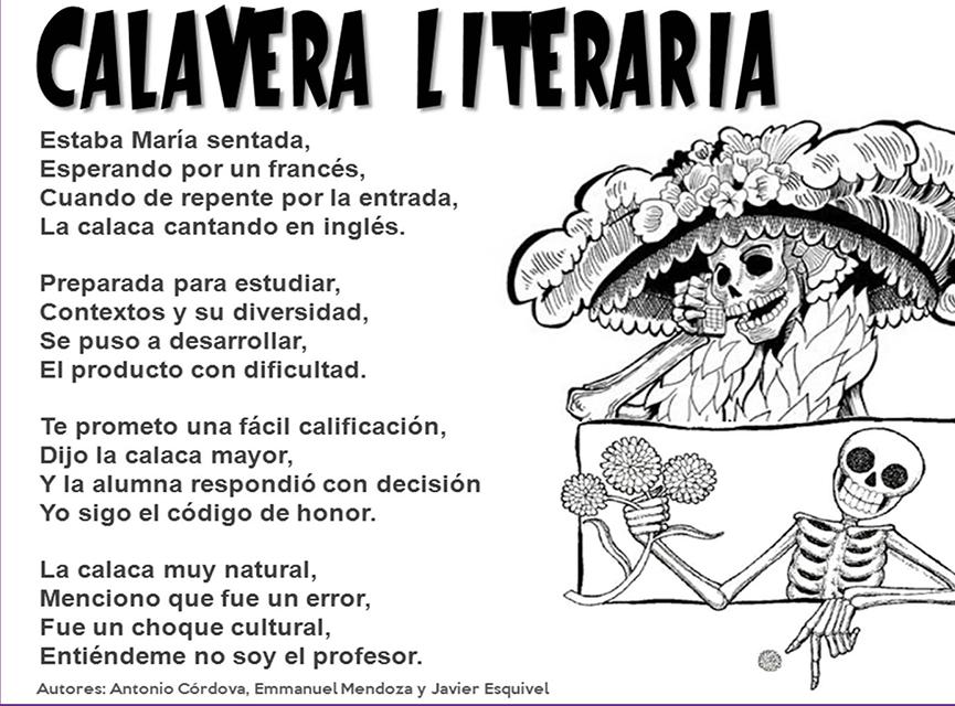Calaveritas Literarias Calaveras Literarias Calaveras