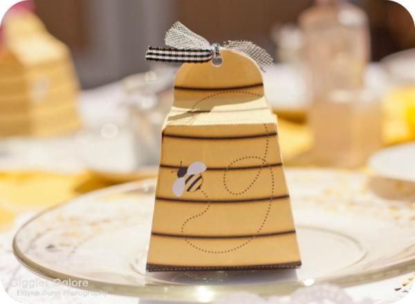 Beehive Party Favor Box  {via Piggy Bank Parties as seen on Kara's Party Ideas}