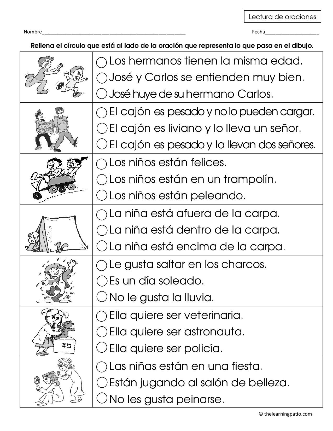 Pin By The Learning Patio On Test Prep Spanish Reading