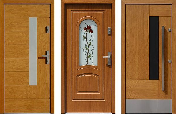 Wooden entrance entrance door mix