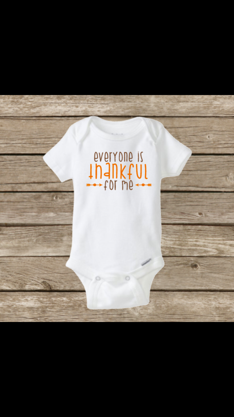 Baby Clothes Near Me Everyone Is Thankful For Me Thanksgiving Baby Onesie Fall Pumpkin