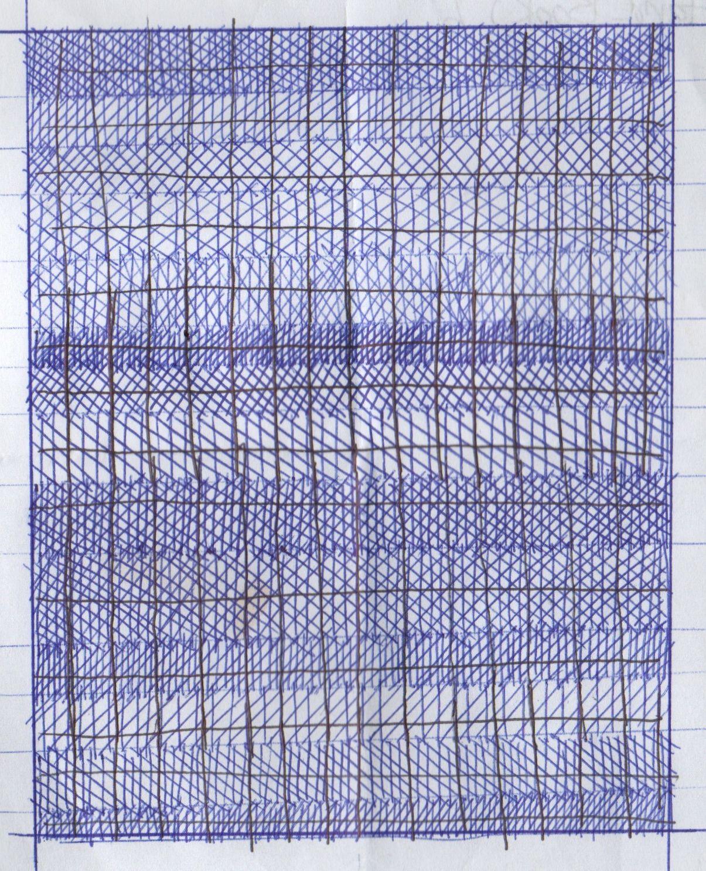 Jessie Thatcher, blue-offset- grid- 2011