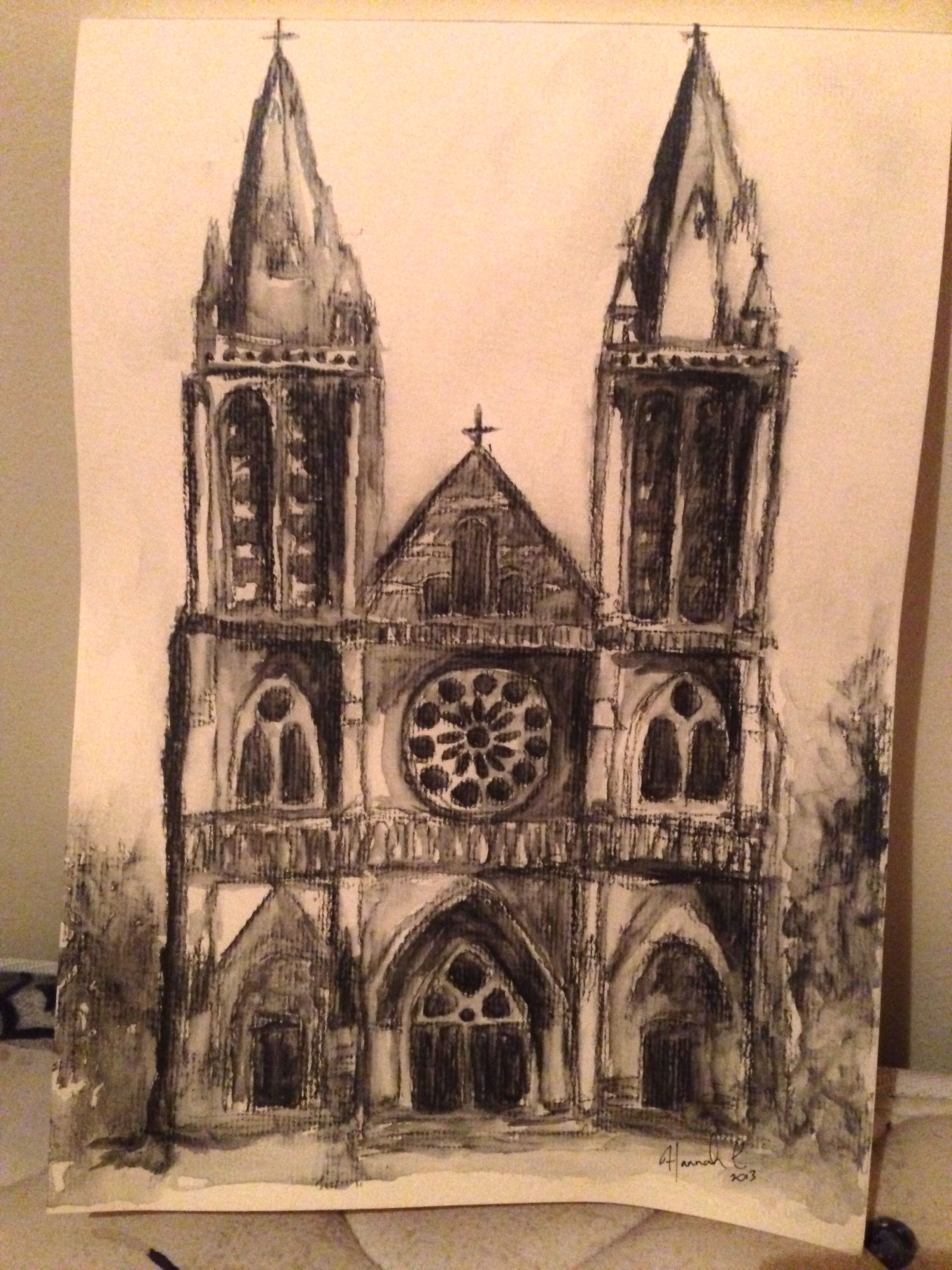 Old church in adelaide sketch and wash watercolour pencils adelaide church churches drawing sketch sketchandwash watercolour creepy stpeter art