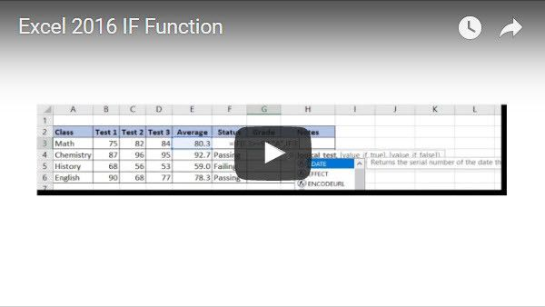 Learn how to create formulas that use the IF Function, nested IFs