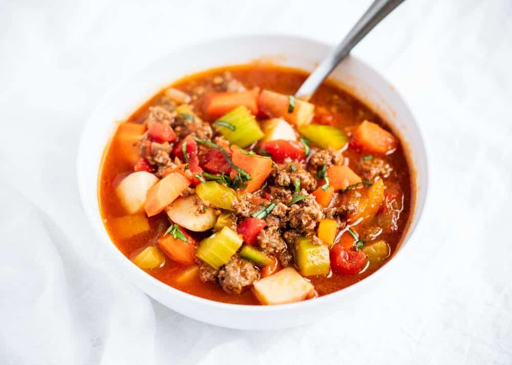 Hearty vegetable beef soup (whole30 approved!) - i heart naptime images