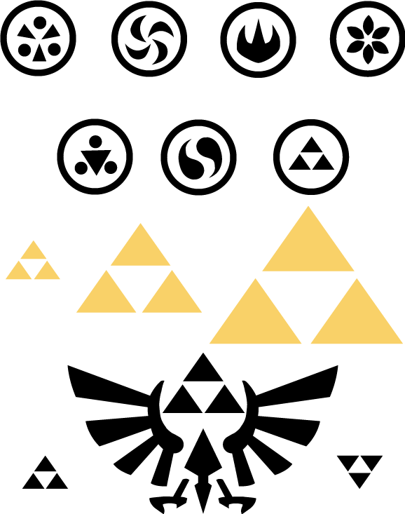 Sage Symbols and the Triforce by SnowBunnyStudios | Ink for