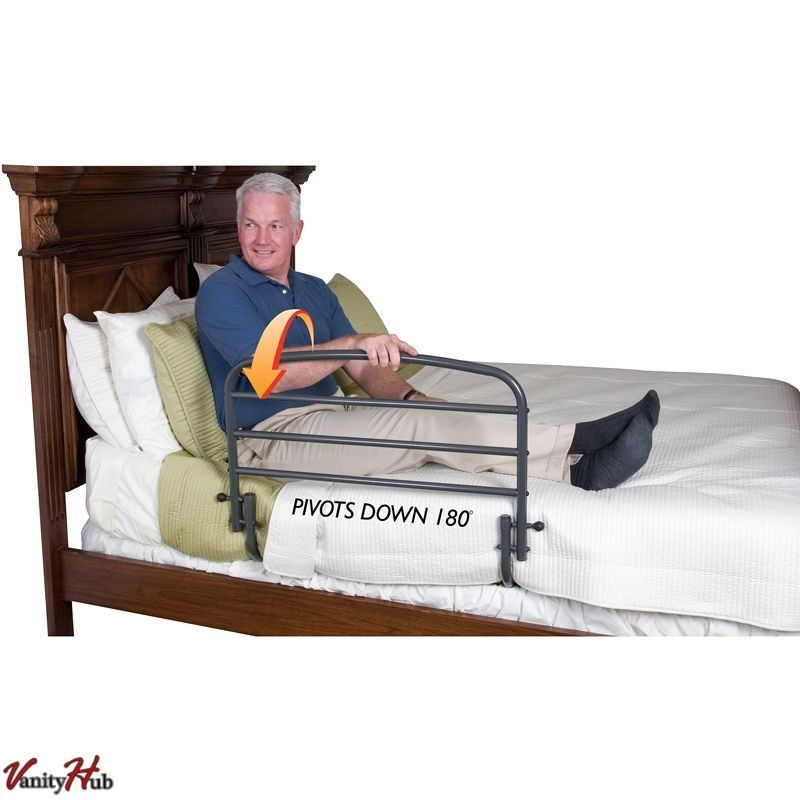 Bed Rail For Elderly Safety Strap Guard Hand Rails Adult Folding