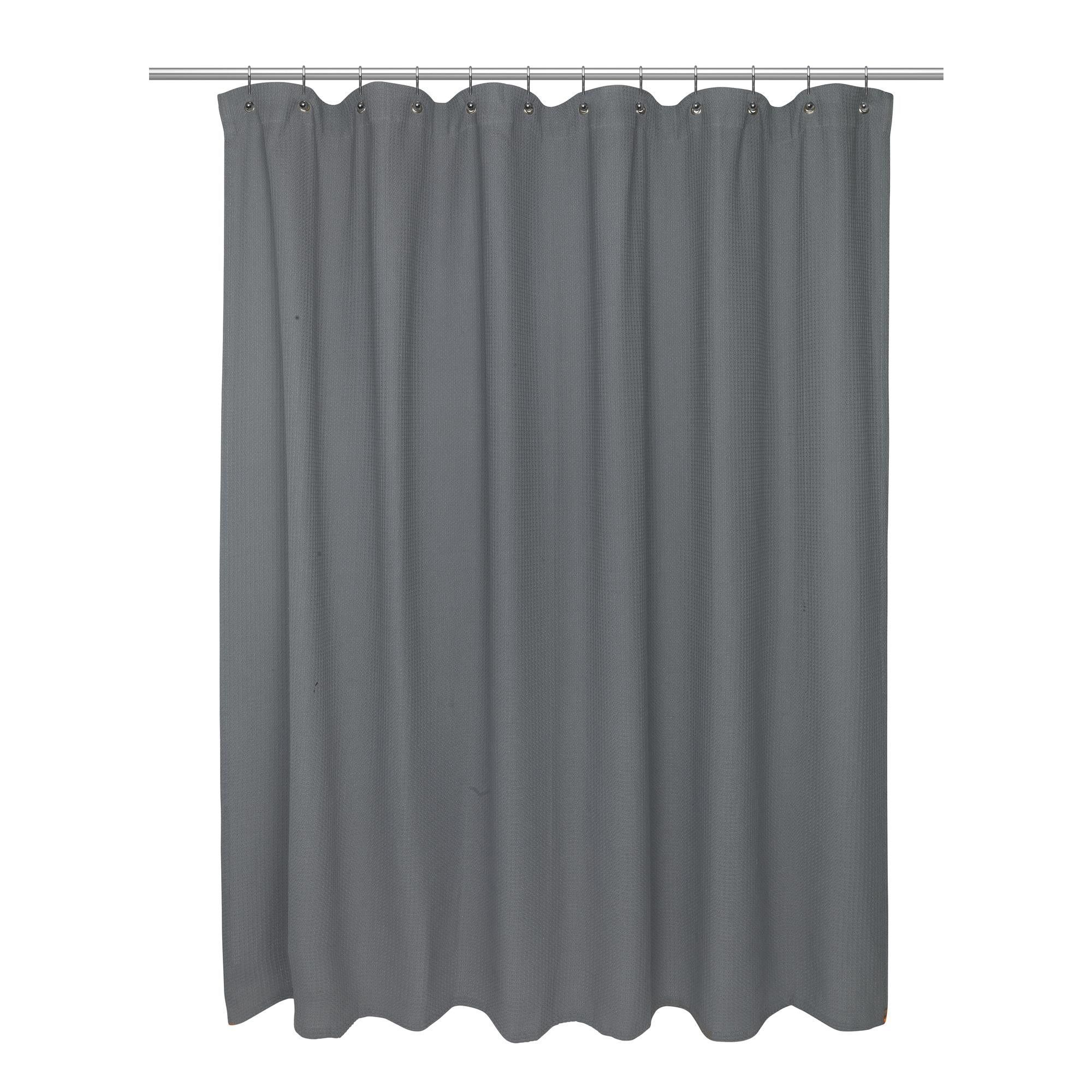 Carnation home standard size cotton waffle weave shower curtain