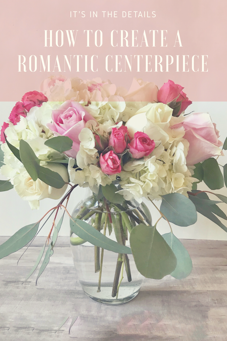 Romantic Centerpiece - Pink and White Wedding Shower Centerpiece ...