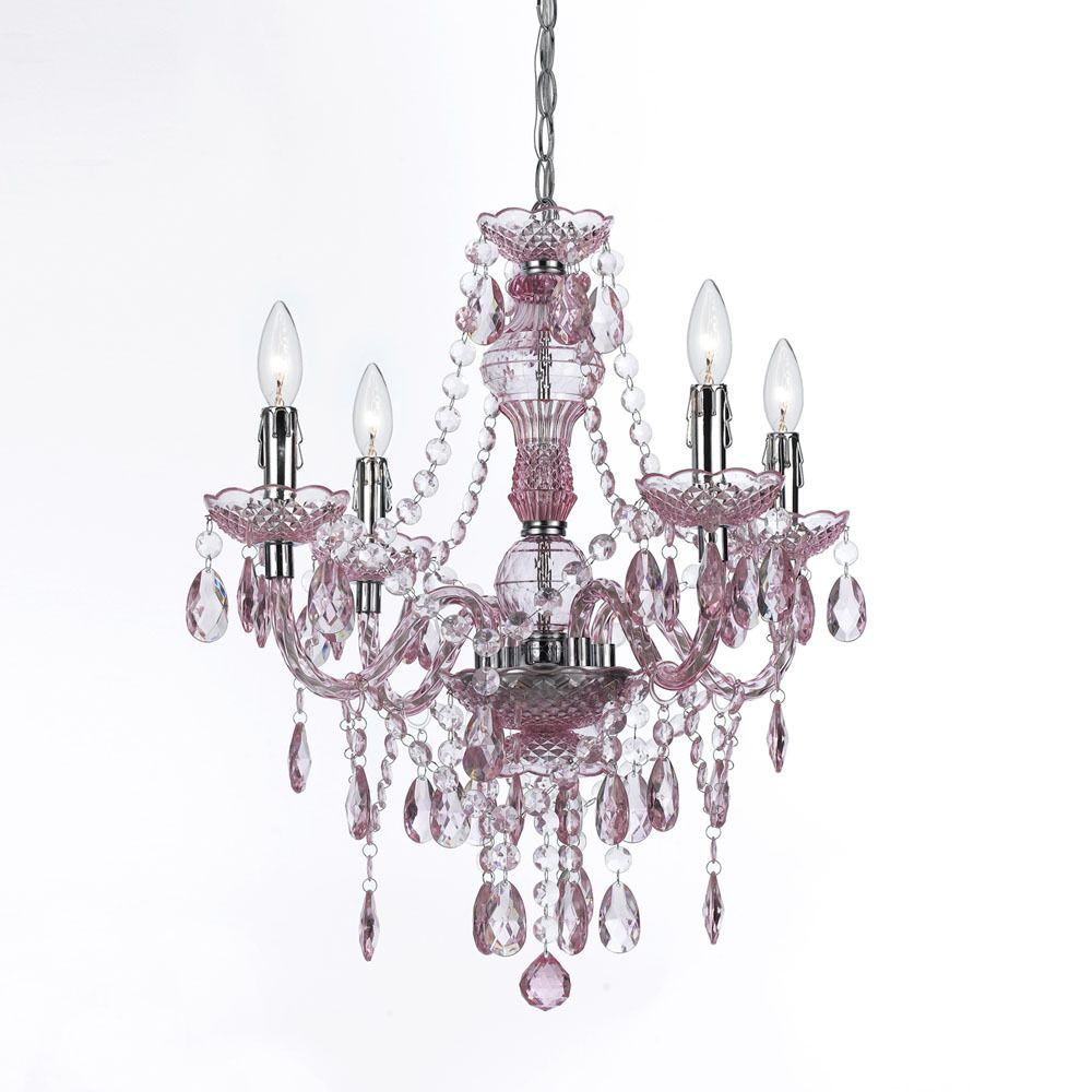 The naples 4 light mini pink chandelier is great to use in any decor the naples 4 light mini pink chandelier is great to use in any decor to mozeypictures Image collections