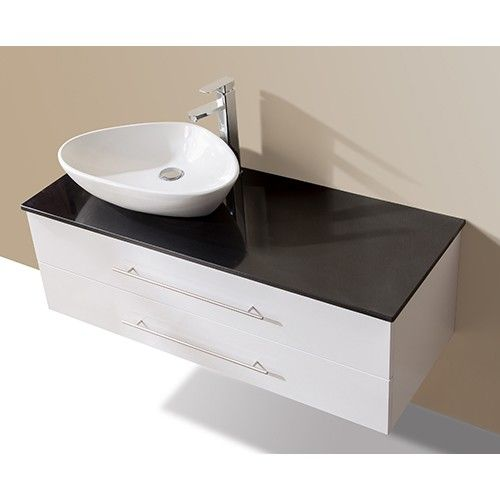 Bathroom Vanity Unit With Basin And Stone Benchtop 120cm Wall