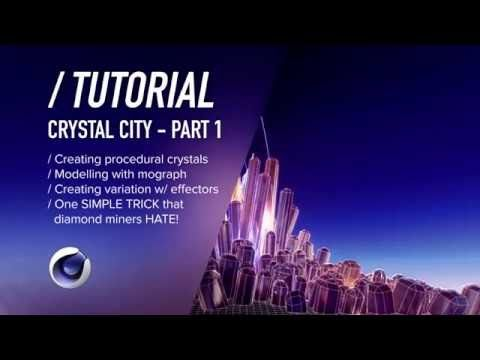 ( / ) C4D TUTORIAL - Procedural Crystals - Crystal City PT1 - YouTube