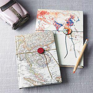 Vintage map notebook or sketchbook frequent traveller vintage map notebook or sketchbook frequent traveller gumiabroncs Choice Image