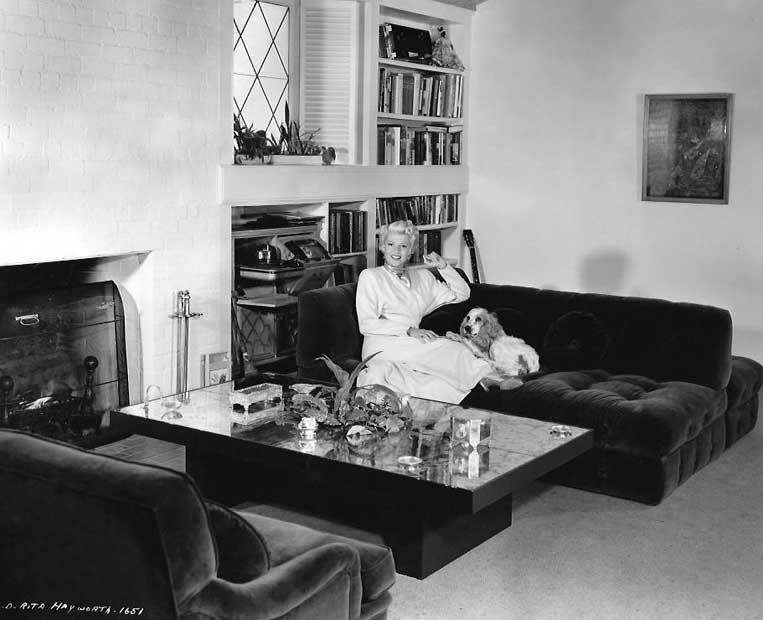 Rita Hayworth At Home Bedroom Furniture Rita Hayworth