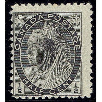 Canada, QV, Half Cent, black, mounted mint 1898 | British